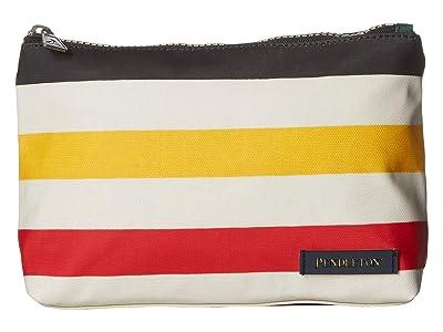 Pendleton Canopy Canvas Zip Pouch (Glacier Stripe) Tote Handbags