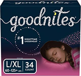 Goodnites Bedwetting Underwear for Girls, L/XL, 34 Ct, Packaging May Vary