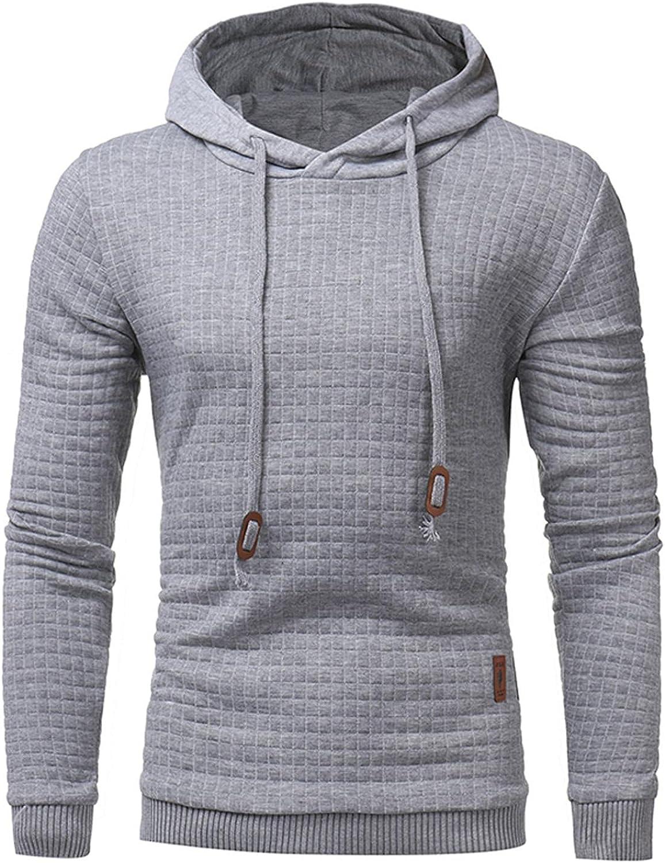 Aayomet Mens Plaid Hoodies Pullover Fashion Autumn Winter Athletic Hoodies Long Sleeve Leisure Mens Hoodies