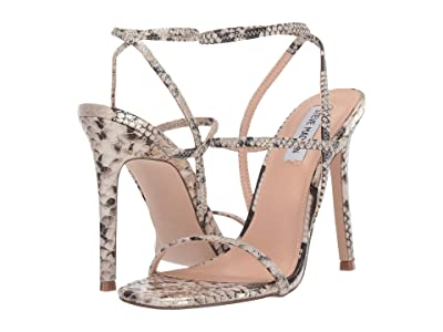 Steve Madden Nectur Heeled Sandals (Gold Snake) High Heels