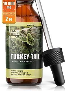 Turkey Tail Mushroom Supplements - Comprehensive Immune System Support & Mood Improvement - Organic Mushroom Liquid Extrac...
