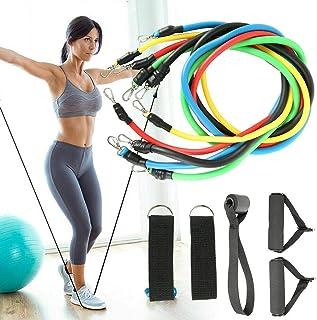 11pcs/Set Pull Rope Fitness Exercises Resistance Bands Latex Tubes Pedal,Isolation Belt Set(Adjustable Pulling Force) GB