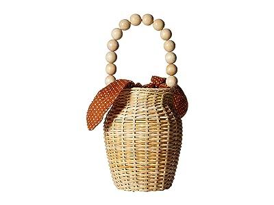 Loeffler Randall Wicker Bucket Tote (Blonde/Penny) Handbags