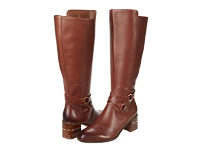 Naturalizer Shore Wide Shaft (Lodge Brown Leather) Women