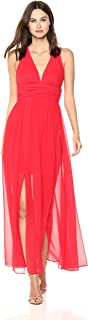 French Connection Women's Andros Crepe Light Sleeveless Sheer Maxi Dress