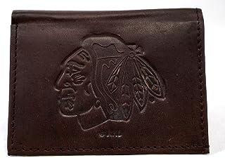 Rico Mens NHL San Jose Sharks Tri-Fold Leather Wallet, Brown 094746582876-P