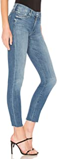 Mother The Looker Fray Ankle Skinny Crop Jeans – One Smart Cookie - 32