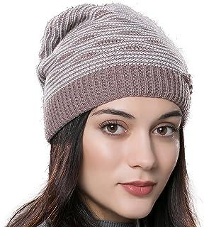 93d62e6c030f1 URSFUR Bonnet Beanie Tricot Sans Pompon Femme Chapeau Bonnet Jersey Maille  Hiver