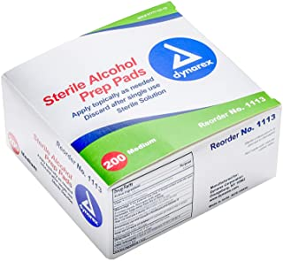Dynarex Alcohol Prep Pad Sterile, Medium, 200 count