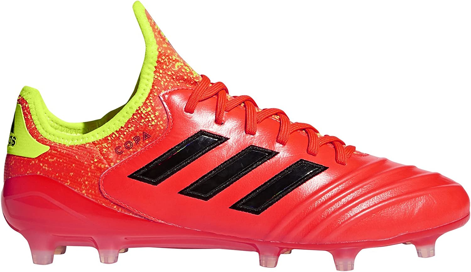 Adidas Copa 18.1 FG Cleat - Men's Soccer 9.5 Solar Red Core Black Yellow