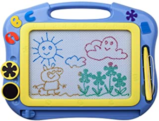 ikidsislands IKS85B [Travel Size] Color Magnetic Drawing Board for Kids, Doodle Board for Toddlers, Sketch Pad Toy for Lit...