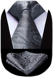 کراوات جامد پیسلی HISDERN برای مردان دستمال گردن کلاسیک گل کلاسیک مردانه
