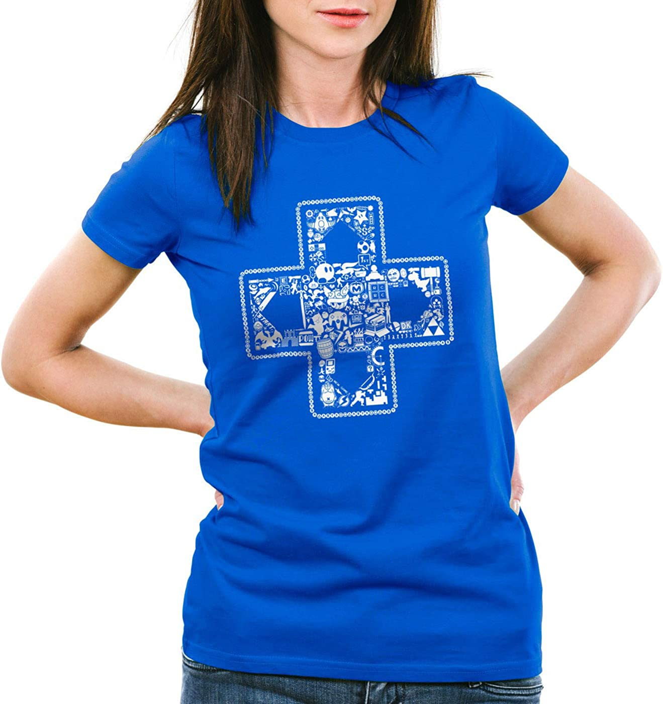 style3 Play Camiseta para Mujer T-Shirt Gamer Game Videojuego ...