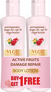 VLCC Active Fruits Damage Repair Body Lotion SPF 30 | PA+++, 100 ml (Buy 1 Get 1 Free)