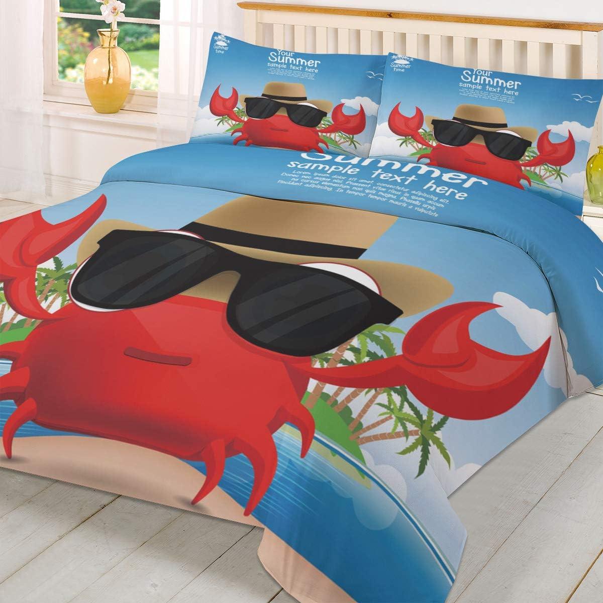IDOWMAT Duvet Cover Set Queen [Alternative dealer] 3 Piece 1 All Max 80% OFF Season Bedding