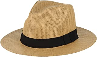 GEMVIE قبعة الصيف سترو بنما قبعة واسعة حافة قبعة الشمس شاطئ بنما سترو كاب للرجال النساء