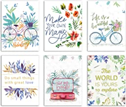 Painting Mantra Beautiful Floral Theme, Home Decor 6 Poster Set (Paper, 12X 16-inch, Multicolour)