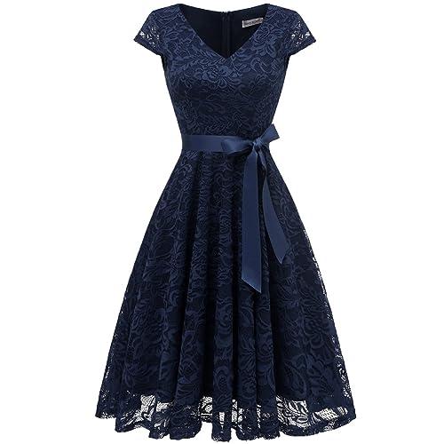 5aa01b57a2db7 Navy Blue Cocktail Dress: Amazon.co.uk