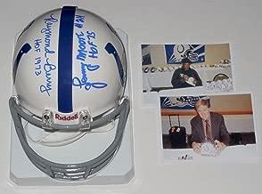 Raymond Berry/Lenny Moore Autographed Mini Helmet (colts) W/Proof! - Autographed NFL Mini Helmets