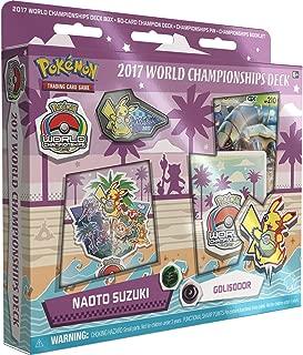 Pokemon TCG: Naoto Suzuki 2017 World Championship Deck Golisopod-GX Golisodor Deck Includes Full 60 Card Championship Deck, 2017 World Championship Booklet, Collector's Pin & Deck Box