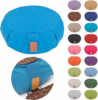 #DoYourYoga Yoga Cushion/Pillow »Brahman« with Zipper and Organic Buckwheat Husk (USA - Farmproduct) - Cover 100% Cotton & Size 16.54