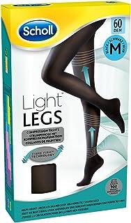 Scholl Light Legs Compression Tights for Women, 60 Denier, Black, Medium