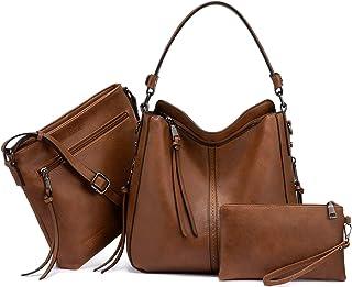 حقائب يد هوبو للنساء كبيرة حقيبة كتف للسيدات حقيبة كروس 3 قطع محفظة مجموعة