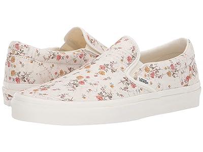Vans Classic Slip-On ((Vintage) Floral/Marshmallow) Skate Shoes