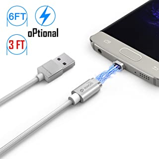 Magnetic Micro Mini 2 Cable, iKNOWTECH Extra Long 6.5 Feet/2M Android Version LED Display USB Sync & Charge Cable for Samsung Galaxy S4 S5 S6 S7 Edge Plus, HTC, LG, Tablet &Other devices (6.5 Feet/2M)