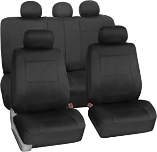 Best FH Group FB083BLACK115 Full Set Seat Cover (Neoprene Waterproof Airbag Compatible and Split Bench Black) Review