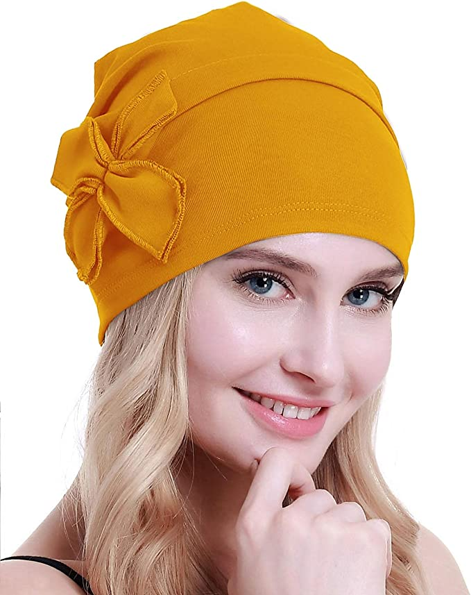 Hippie Hats,  70s Hats osvyo Cotton Chemo Turbans Headwear Beanie Hat Cap for Women Cancer Patient Hairloss  AT vintagedancer.com