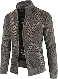 Leomodo Geometric Pattern Long Sleeves Men Cardigan