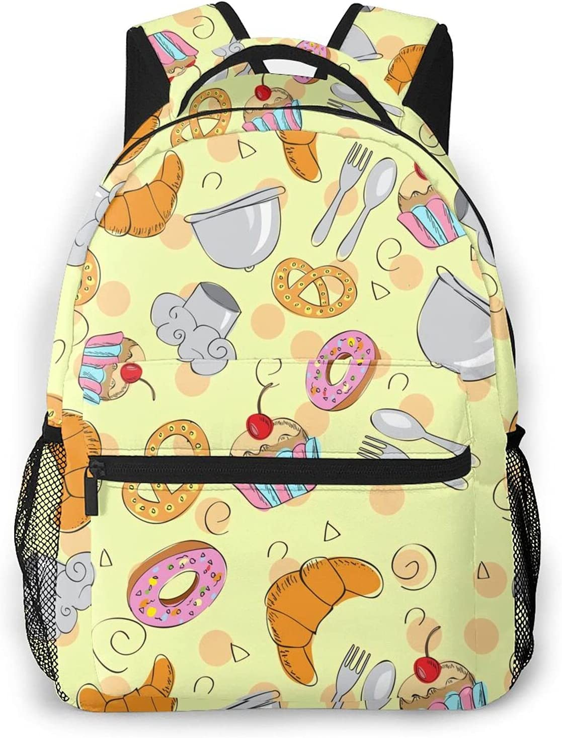 Save money Backpack Unisex Columbus Mall School Bag Delicious Canvas Lapt Sweets Rucksack