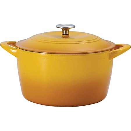 Tramontina 7 Qt Enameled Cast Iron Covered Tall Round Dutch Oven (Sunrise) - 80131/361DS