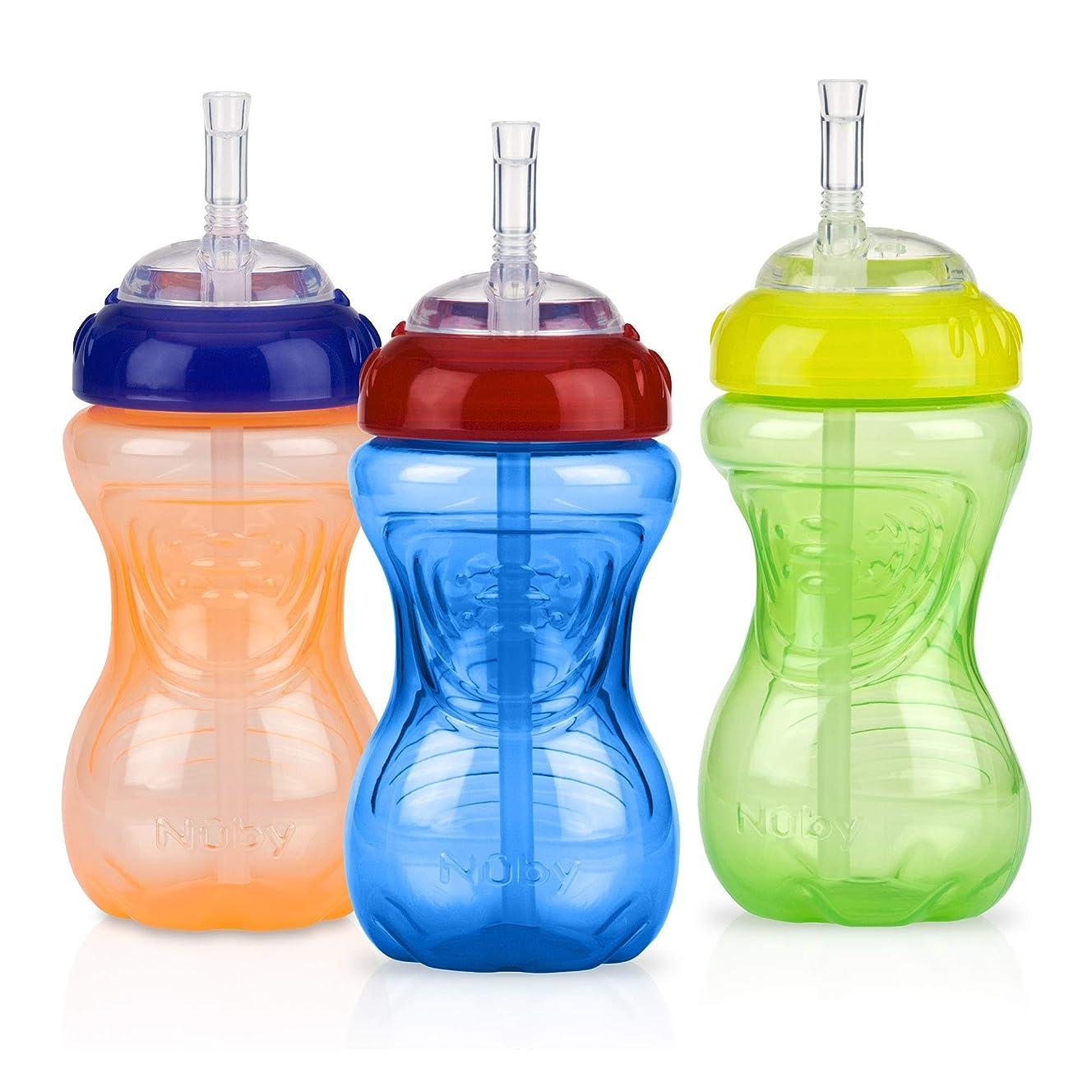 ペンミル絡まる漏れないストロー付きベイビーボトルカップ 赤ちゃん?お子様用 フレックスストロー付カップ 295ミリリットル (10オンス) (ニュートラル)