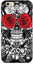 Inspired Cases - 3D Textured iPhone 6/6s Case - Rubber Bumper Cover - Protective Phone Case for Apple iPhone 6/6s - Skull & Roses