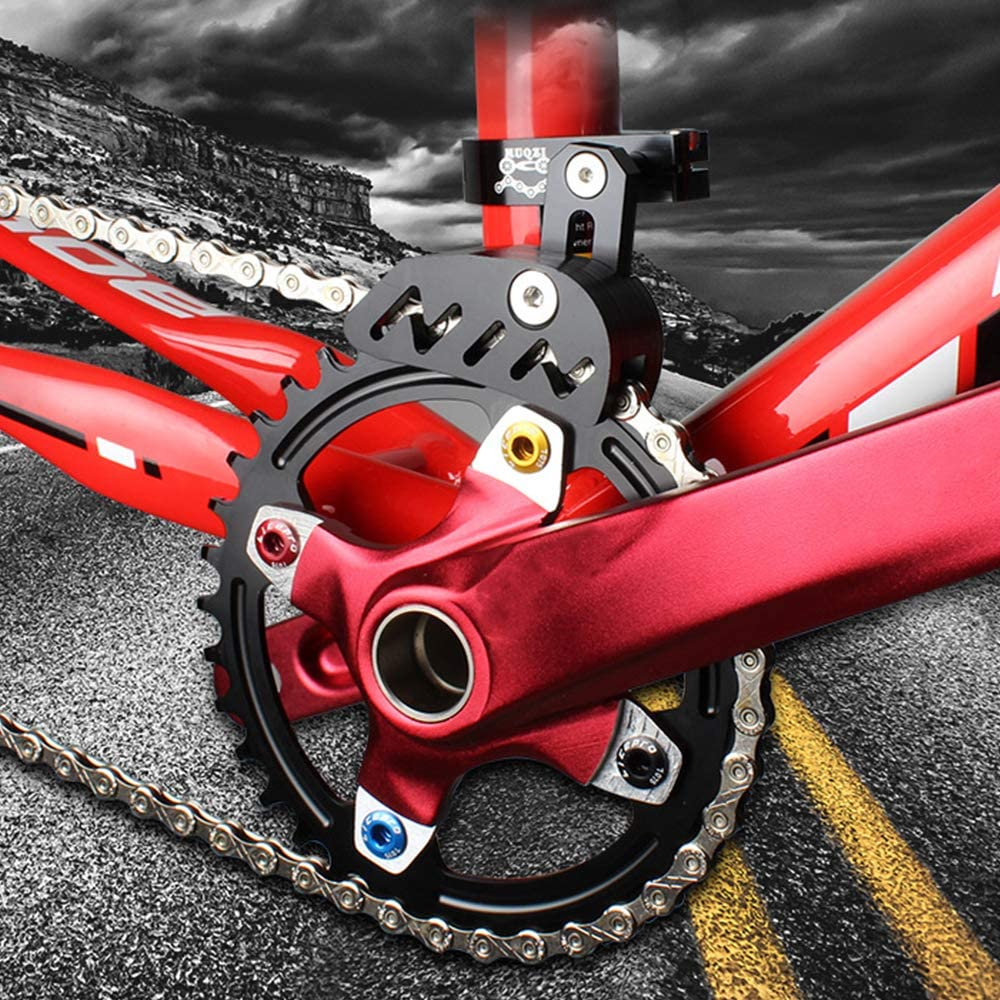 MNTT MTB Bike Seat Tube Clamp Chain Guide,Adjustable Mount Direct Single-disc Mountain Bike Cycling Protector Stabilizer Bicycle