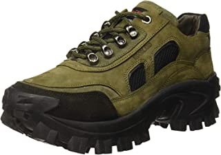 Woodland Men's Olive Green Leather Casuals 8 UK/India (42 EU)-(OGC 2995118)