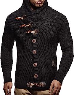 Men's Knitted Jacket Turtleneck Cardigan Winter Pullover...