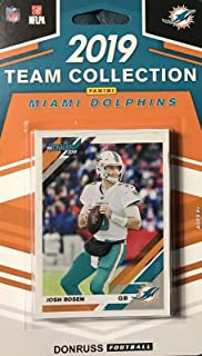 Miami Dolphins 2019 Donruss Factory Sealed 10 Card Team Set with Josh Rosen and Dan Marino Plus 8 Other Cards Including 3 Rookies