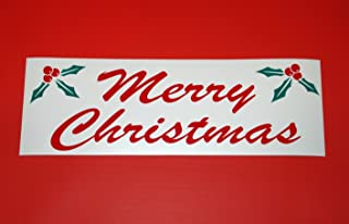 1 Pc Excited Unique Merry Christmas Sign Yard Decal Window Declare Silk Screen Holiday Home Decorations Xmas Decoration Happy Holidays Banner Decor Santa Houses Outdoor Size 4