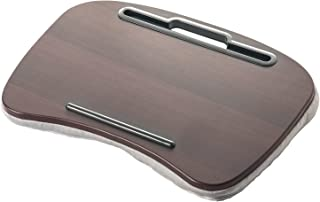 イーサプライ クッション テーブル ラップトップ ひざ上 タブレット ひざ上テーブル ソファー ベッド リビング テレワーク 在宅勤務 ブラウン EEX-KOT02