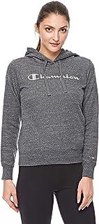 Champion Hooded Sweatshirt For Women, Grey, M
