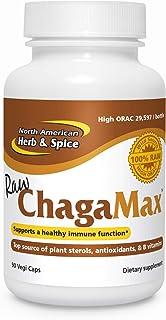 North American Herb & Spice ChagaMax - 90 Capsules - Adaptogen, Adrenal Support, Endurance & Stamina - Chaga Wild Mushroom...