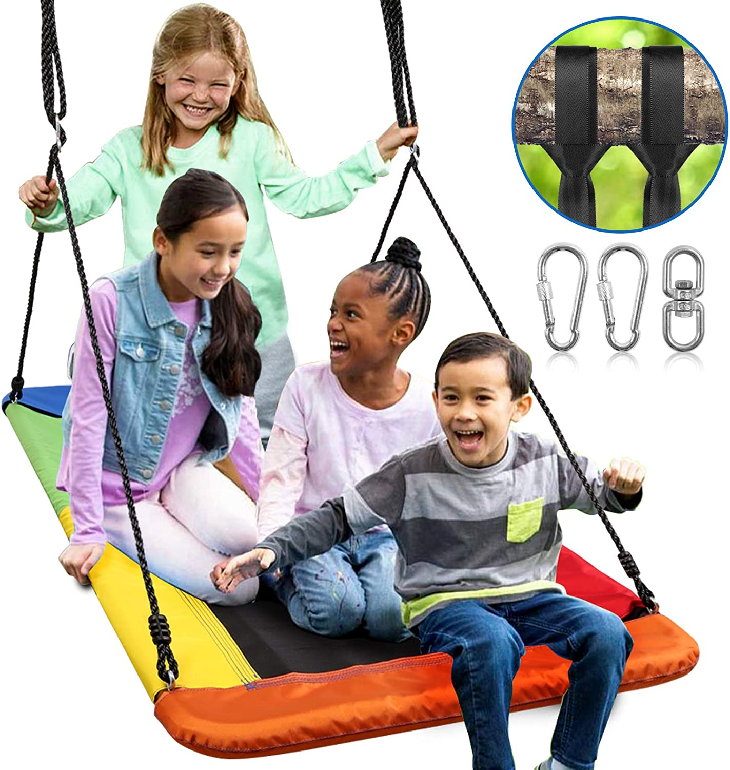 Odoland 60inch Giant Platform Tree Swing for Kids and Adult - Wa