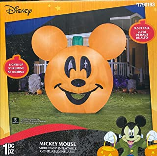 Gemmy 9 1/2 Airblown Inflatable Disney Mickey Mouse Pumpkin Jack-O-Lantern