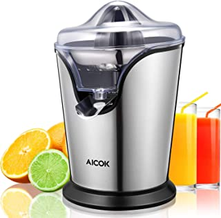 Aicok Citrus Juicer Electric 100W Stainless Steel Orange Juicer Squeezer with Anti-drip Spout and