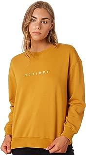 Thrills Women's Womens Minimal Crew Long Sleeve Cotton Yellow
