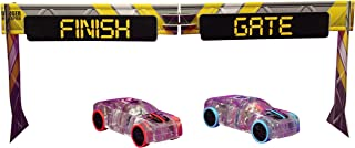 Max Traxxx Marble Racers Light Up 1:43 Scale Quick Shot Pull-Back Motor Race Cars 2-Pack with Puzzle Finish Gate