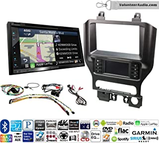 Volunteer Audio Kenwood DNX574S Double Din Radio Install Kit with GPS Navigation Apple CarPlay Android Auto Fits 2015-2017 Mustang